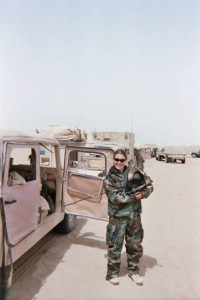 Laura Westley smiles in Iraq
